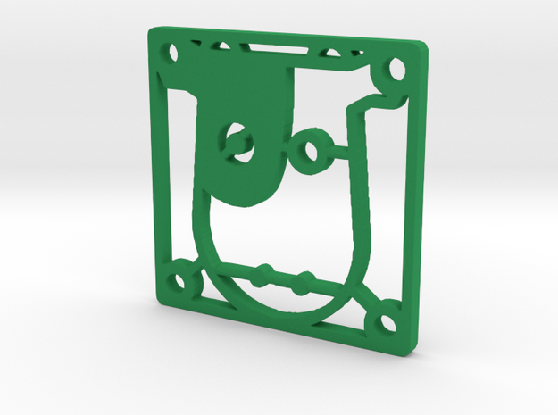 "Fan Grille 30x30mm ""Margot"" in Green Processed Versatile Plastic"