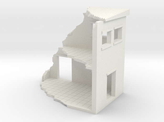 Building In Ruins in White Natural Versatile Plastic