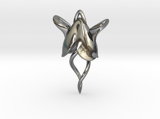 Wingnut Earring 3d printed