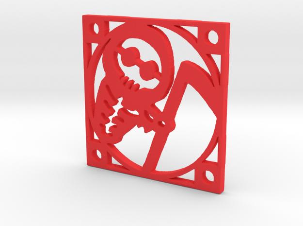 "Fan Grille 30x30mm ""Foochy"" in Red Processed Versatile Plastic"