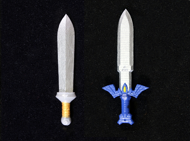 Toon Sword Pack in Smooth Fine Detail Plastic