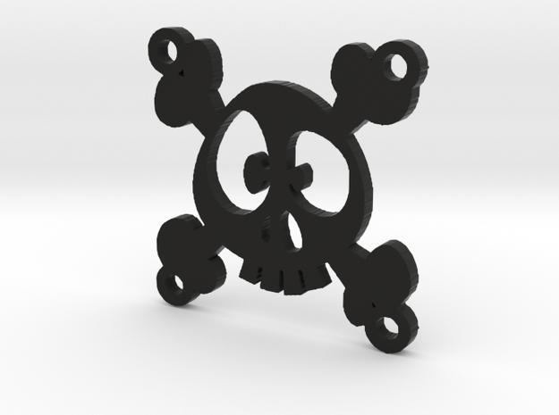 "Fan Grille 30x30mm ""Skulii"" in Black Natural Versatile Plastic"