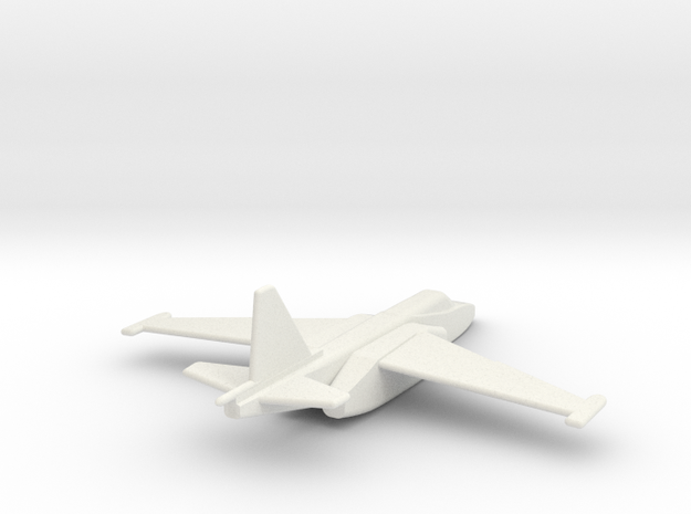 Su-25 Frogfoot 1/200 scale in White Natural Versatile Plastic