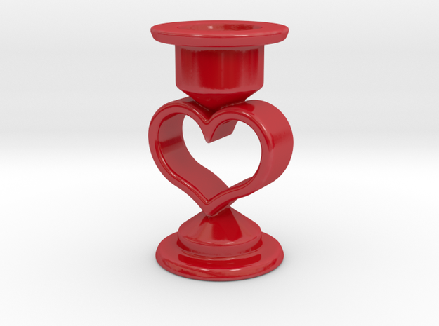 Heart Candle Holder, printed in Porcelain.