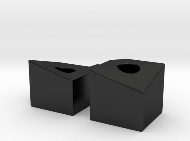 Topographic Menorah - 2 in Matte Black Porcelain