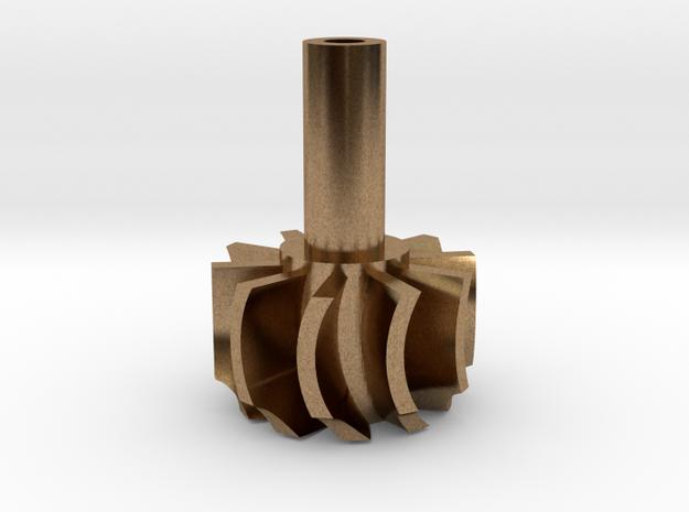 TurboKeychains_TK10-R_Turbine-10-Blade-SHF in Raw Brass