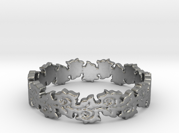 Nurture Ring (size 4-13) in Natural Silver: 6.25 / 52.125