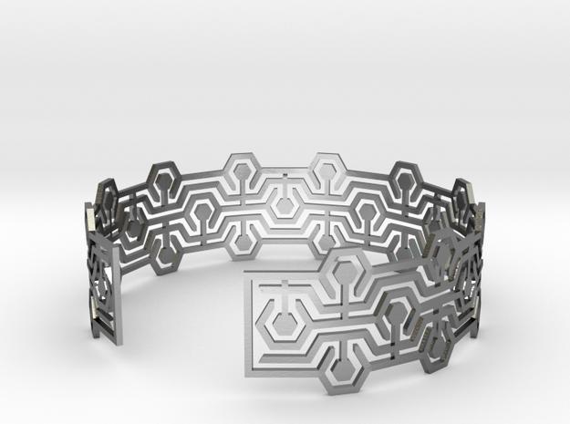 Bracelet Meandres in Polished Silver