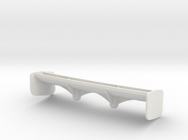 Aileron Mc Laren 12C moyen appui Aéro in White Strong & Flexible