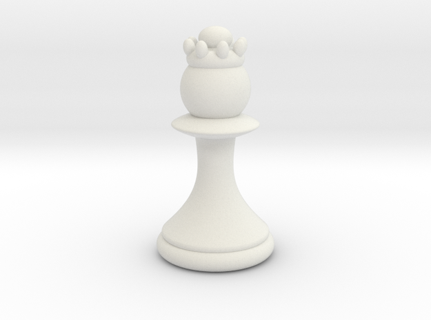 Pawns with Hats - Queen in White Strong & Flexible: Small