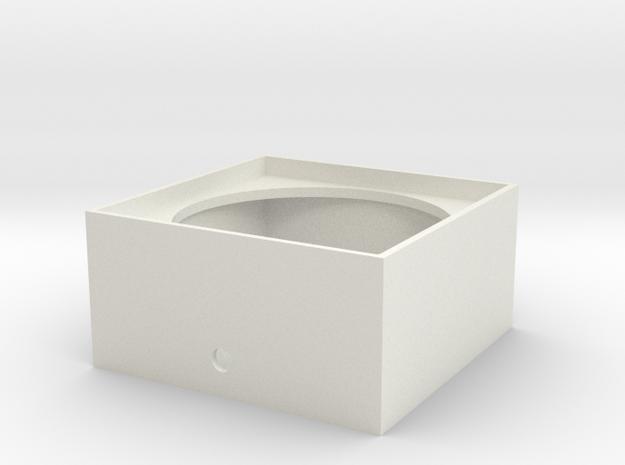 """1.56"""" Dia. Speaker Enclosure S Scale 1/64 in White Natural Versatile Plastic"""