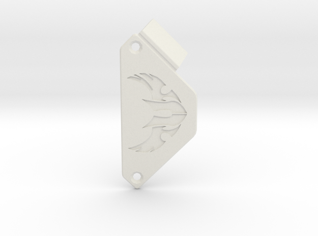 Custom nameplate - TUF  in White Natural Versatile Plastic