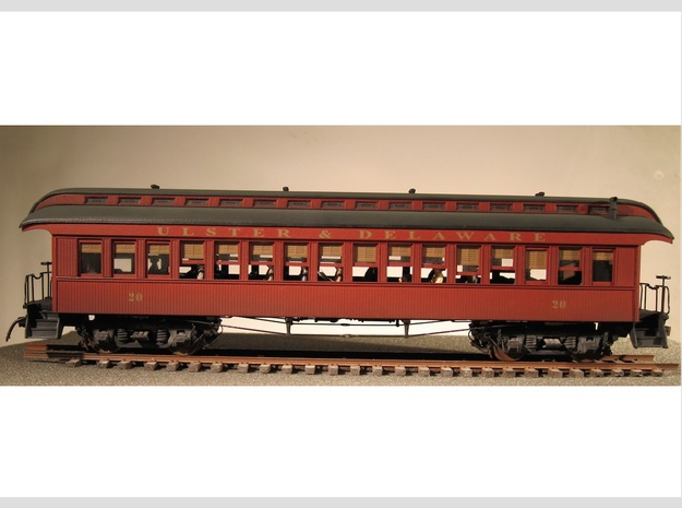 Wood Passenger Car 1885 S Scale 1/64 in Frosted Ultra Detail