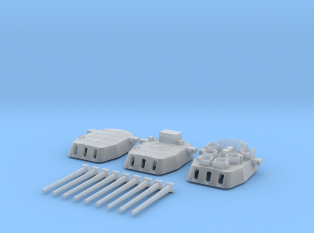 "1/700 16""/45 MKI HMS Nelson Turrets 1945 in Smoothest Fine Detail Plastic"