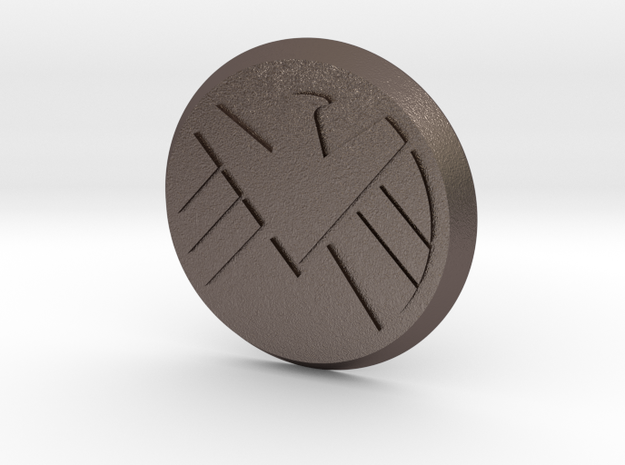 Agents Of Shield Button in Stainless Steel