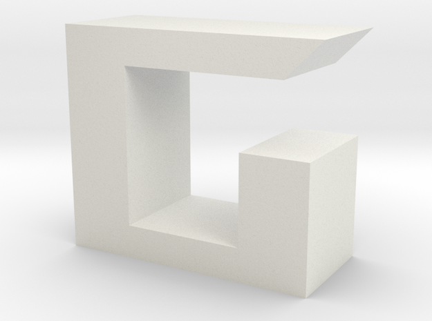 ROG font- G in White Natural Versatile Plastic