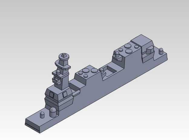 1:3000 multipart 22DDH Izumo - Details 3d printed DETAIL VIEW