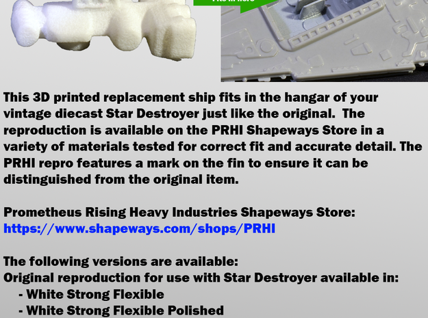 Star Wars Repro Mini Blockade Runner for Kenner 3d printed Flyer