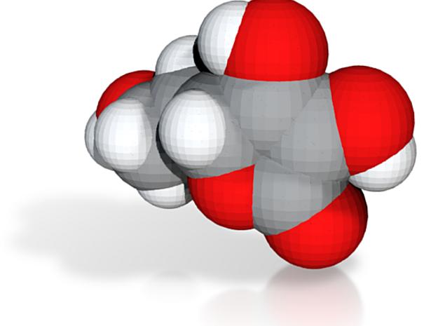 Vitamin c molecule (x40,000,000, 1A = 4mm) 3d printed