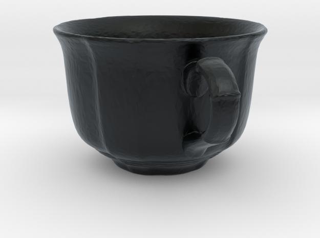 Tea Mug in Black Hi-Def Acrylate: Small