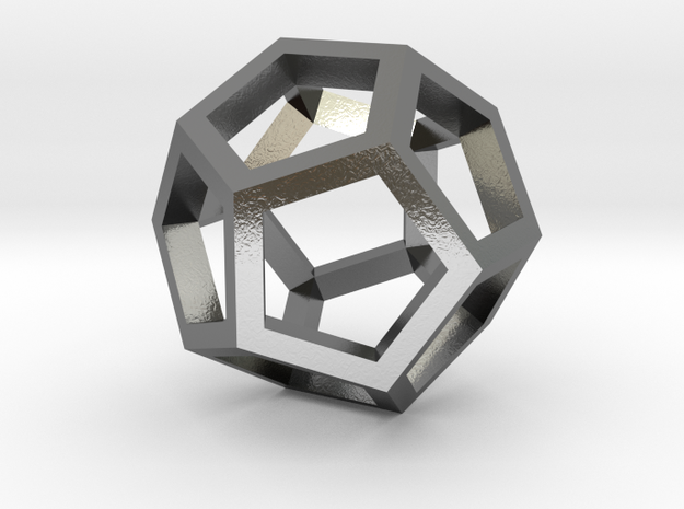 geommatrix dodecahedron in Polished Silver