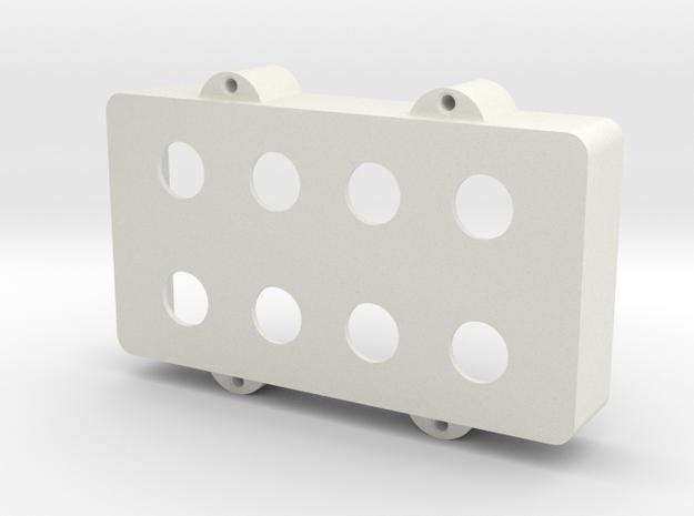 Modified MusicMan Bass Humbucker Cover in White Natural Versatile Plastic