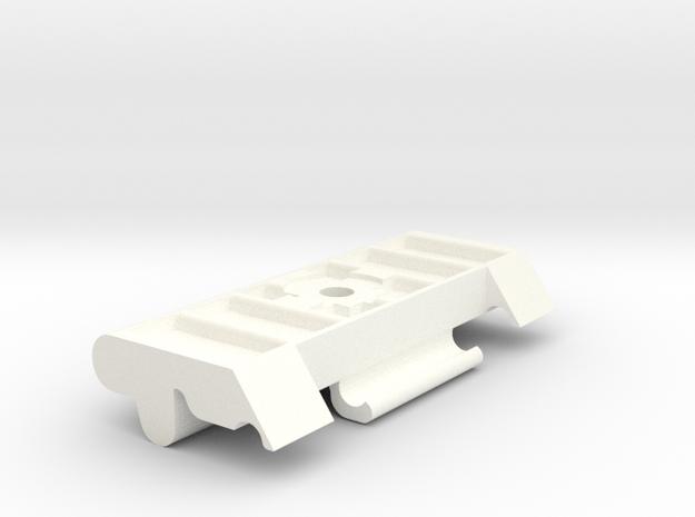 Lancia Delta Integrale Batteriehalter Battery in White Strong & Flexible Polished