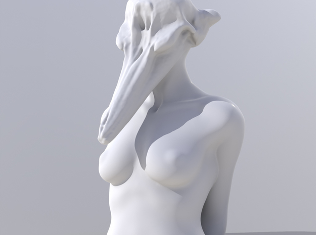Undine 3d printed Modo render
