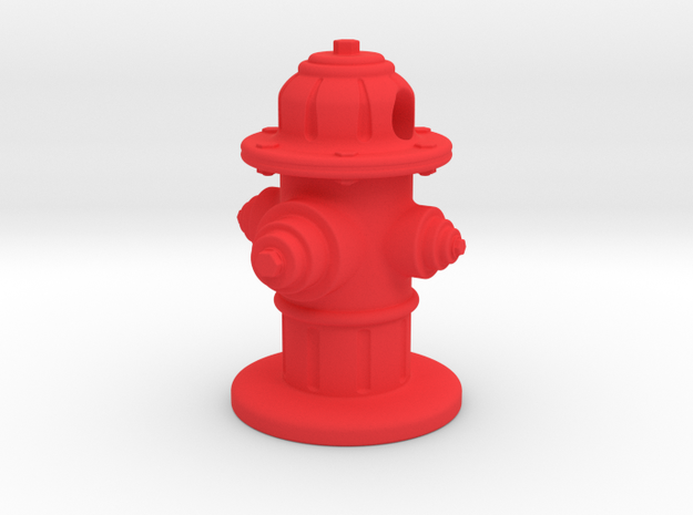 Fire Hydrant  in Red Processed Versatile Plastic
