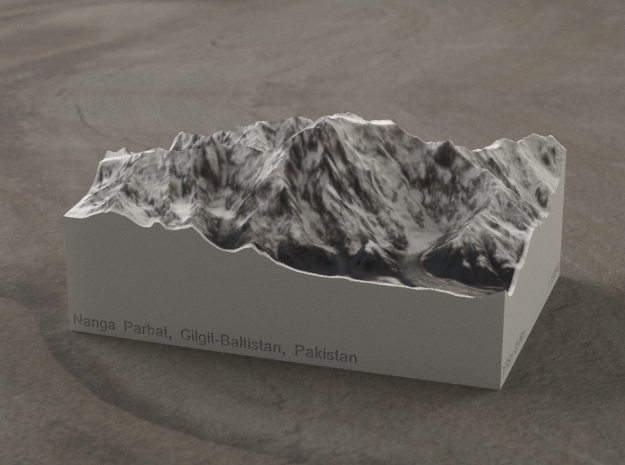 Nanga Parbat, Pakistan, 1:150000 Explorer in Full Color Sandstone