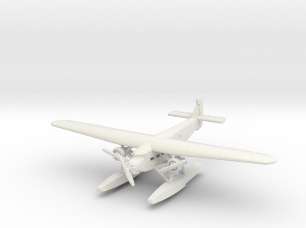 Ford 5-AT Trimotor Floatplane 1/285 scale in White Strong & Flexible