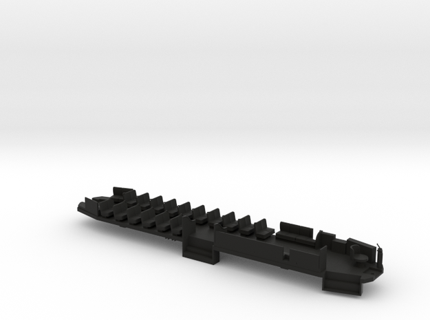 O Scale B&QT 6000 Solid Floor #1a  in Black Natural Versatile Plastic