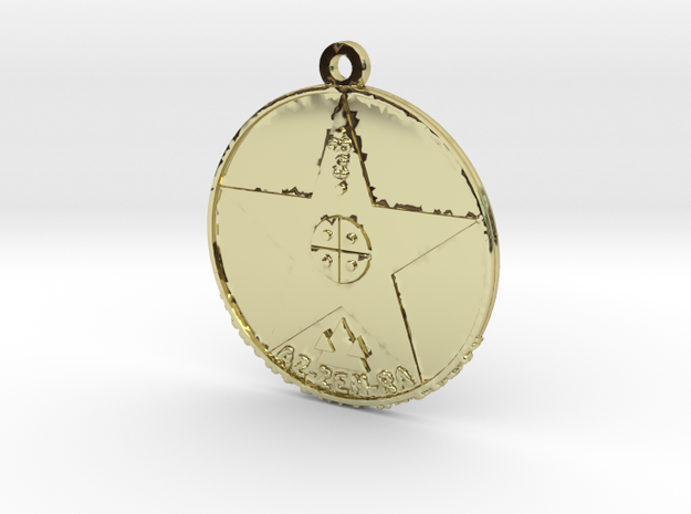 Metatronia Energy Therapy Amulet in 18K Gold Plated
