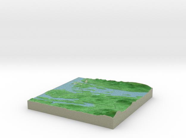 Terrafab generated model Tue Jan 24 2017 18:12:51  in Full Color Sandstone