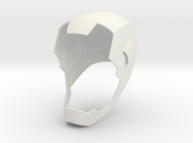 Iron Man Mark 45 Helmet Base in White Strong & Flexible