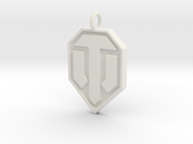 World of tanks pendant in White Strong & Flexible