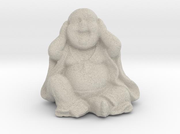BuddhaHearNoEvil in Natural Sandstone