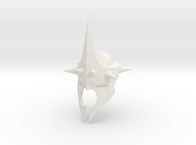 Witchking of Angmar Helmet (LEGO compatible) in White Natural Versatile Plastic