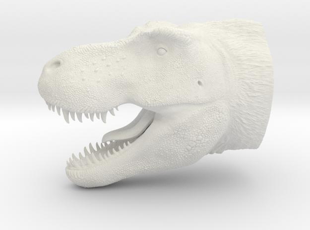 T. Rex Bust in White Natural Versatile Plastic