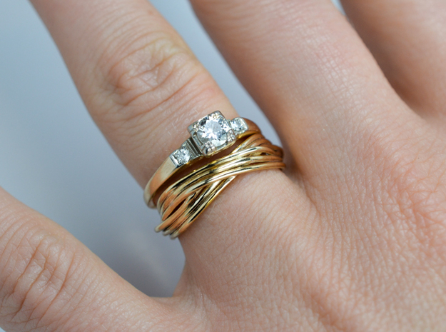Turk's Head Knot Ring -- Size 6 1/4