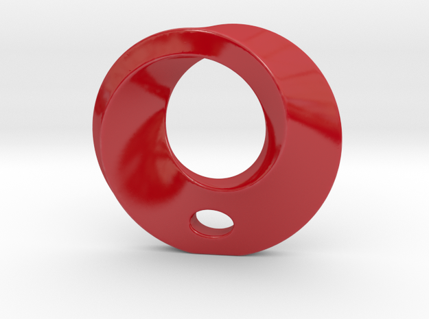 Mobius Porcelain Pendant in Gloss Red Porcelain
