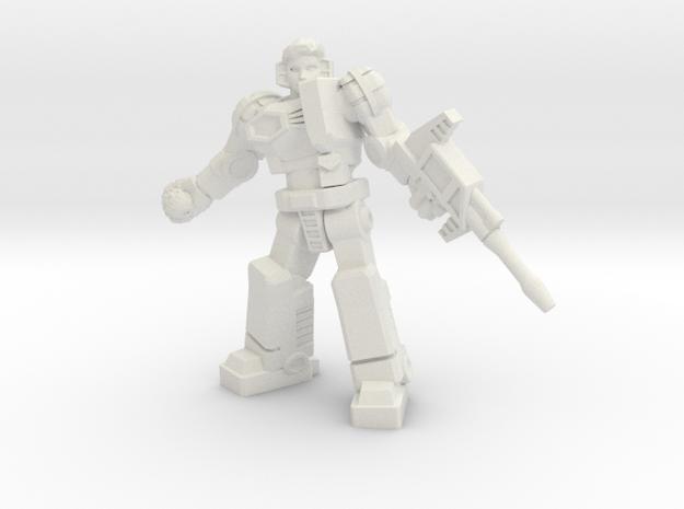 Diaclone Grenadier, 35mm Mini in White Strong & Flexible