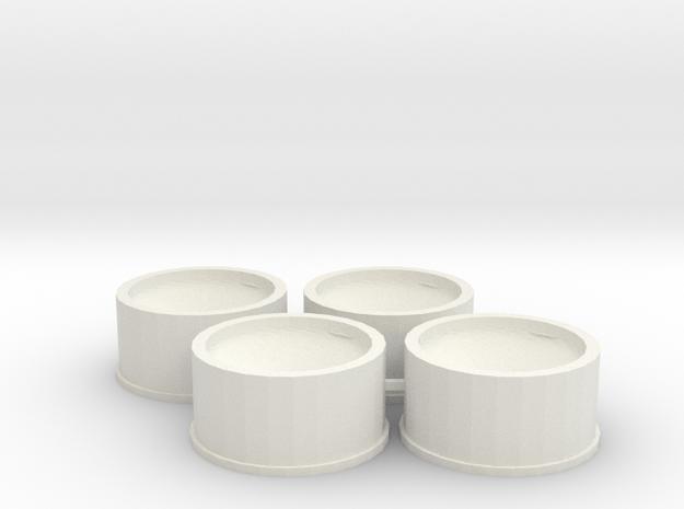 Jantes 21,5x11 ET0 MiniZ in White Natural Versatile Plastic