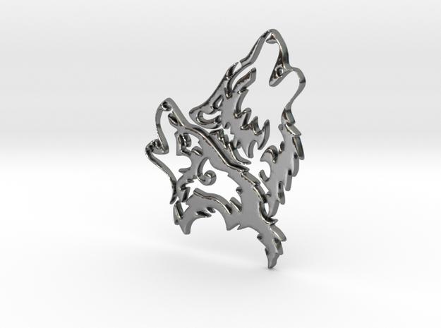 Wolfskopf / Wolfhead in Polished Silver