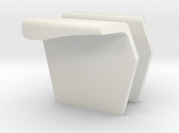 6000 AC open station fenders in White Natural Versatile Plastic
