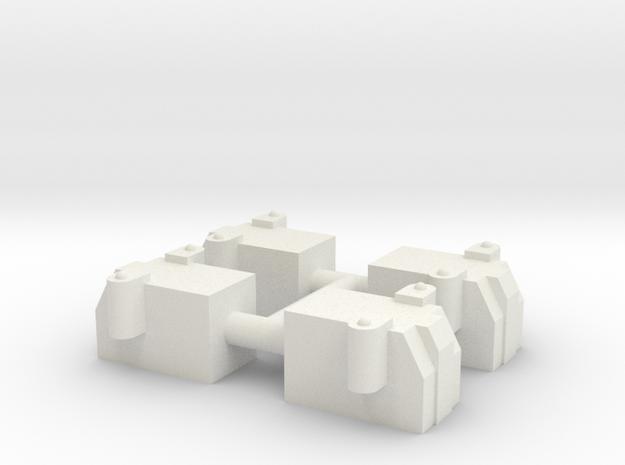 Ellis Axel Boxes Midland Railway/North Eastern Rai in White Natural Versatile Plastic
