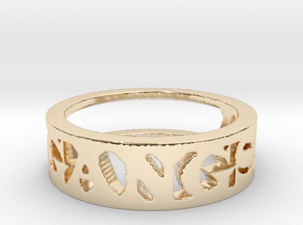Gangsta Ring in 14k Gold Plated Brass: 6 / 51.5