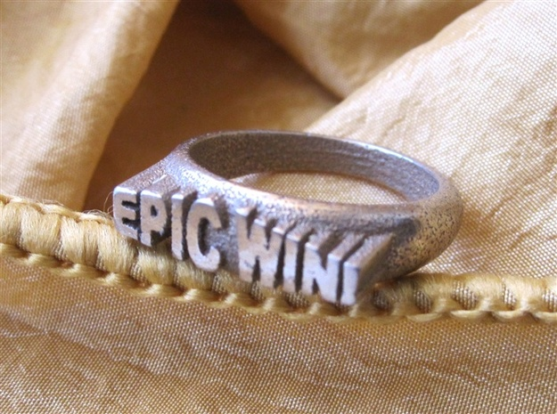 EPIC WIN! Ring in Stainless Steel