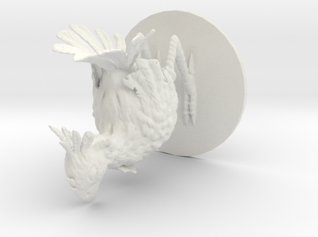 Chocobo Miniature- 2 inch base in White Strong & Flexible
