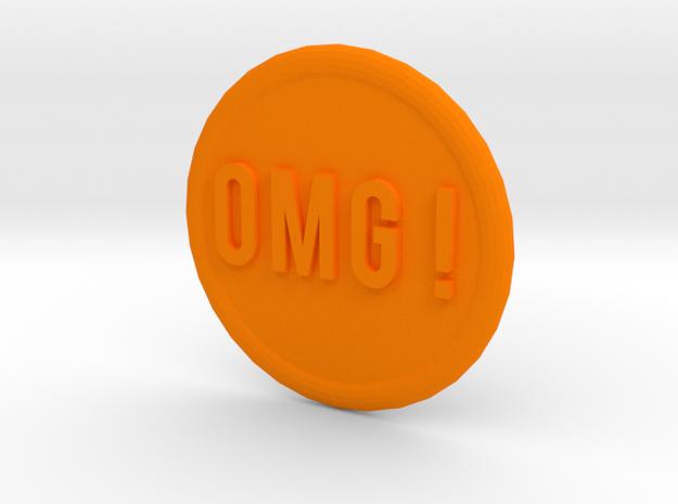 OMG ! in Orange Strong & Flexible Polished